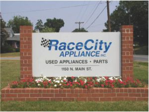 Race City Appliance sign